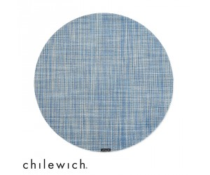 Chilewich Set Rund Mini Basketweave chambray