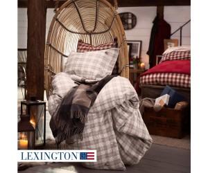 Lexington Bettwäsche Set Holiday Checked Flannel beige