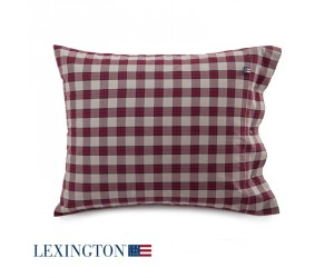 Lexington Kissenbezug Checked Twill rot (40 x 80 cm)
