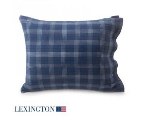 Lexington Kissenbezug Checked Flannel blau (40 x 80 cm)
