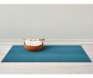 Chilewich Fußmatte Skinny Stripe turquoise/türkis