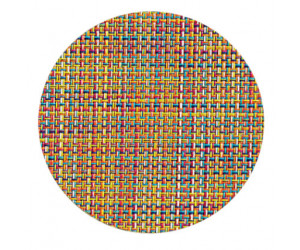 Chilewich Glasuntersetzer Set Mini Basketweave confetti -005 4-er set (Ø 10 cm)