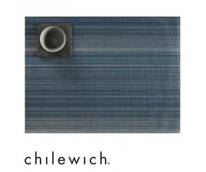 Chilewich Tischset Multi Stripe blau (chambray)