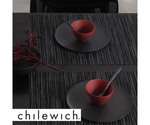 Chilewich Tischset Rib Weave schwarz