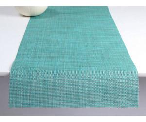 Chilewich Tischläufer Mini Basketweave turquoise -019 (36x183 cm)