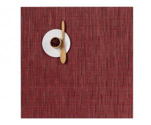 Chilewich Tischset Bamboo quadratisch cranberry
