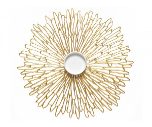 Chilewich Tischset Bloom rund gold/gilded