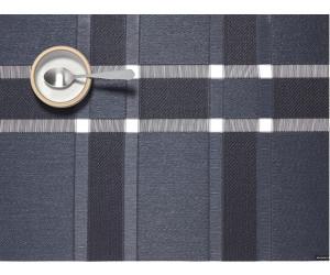 Chilewich Tischset Interlace rechteckig Sapphire schwarz/grau