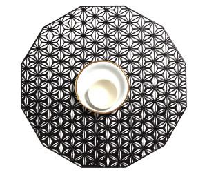 Chilewich Tischset Kaleidoscope rund black