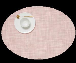 Chilewich Tischet Mini Basketweave oval blush