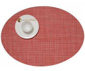 Chilewich Tischset Mini Basketweave oval guava