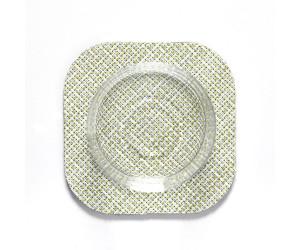 Chilewich 4er Set  viereckige Untersetzter Mini Basketweave grün -031 (10,8x10,8cm)