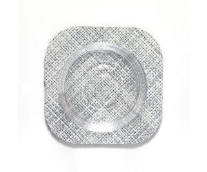 Chilewich 4er Set  viereckige Untersetzter Mini Basketweave grau -034 (10,8x10,8cm)