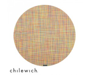 Chilewich Set Rund Mini Basketweave confetti