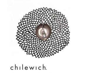 Chilewich Tischset Dahlia schwarz