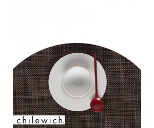 Chilewich Set Rund Mini Basketweave dark walnut