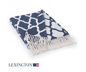 Lexington Decke Cotton Jacquard blau