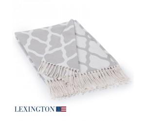 Lexington Decke Cotton Jacquard grau