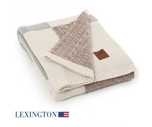 Lexington Decke Knitted Patch multi beige