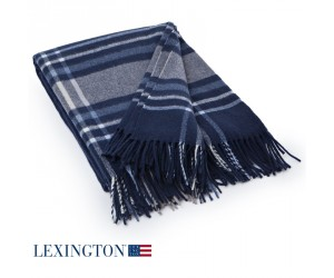 Lexington Decke Wool Frame blau