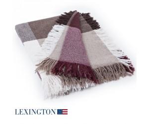 Lexington Decke Wool Square rot/beige