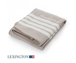 Lexington Decke Stripe creme