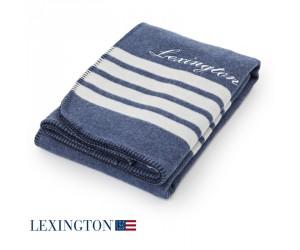 Lexington Decke Stripe blau