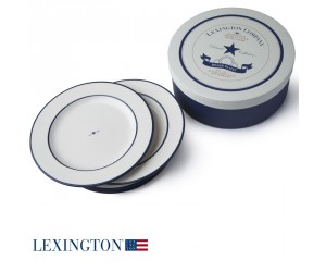 Lexington 4-er Set Speiseteller Star blau