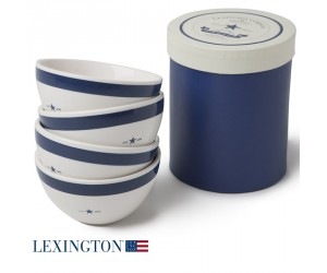 Lexington 4er Set Schalen Star blau