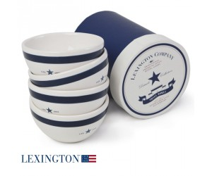 Lexington 4er Set kleine Schalen Star blau