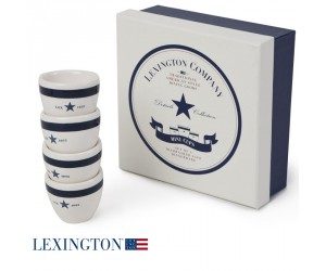 Lexington 4er Set Eierbecher Star blau
