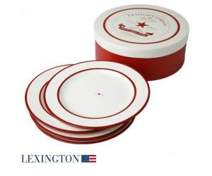 Lexington 4er Set Speiseteller Star rot
