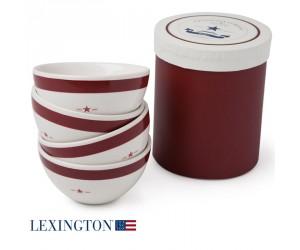 Lexington 4er Set Schalen Star rot