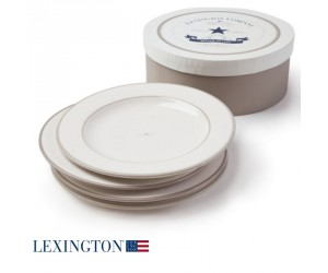 Lexington 4er Set Speiseteller Star beige