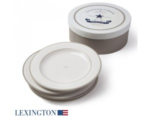 Lexington 4er Set Dessertteller Star beige