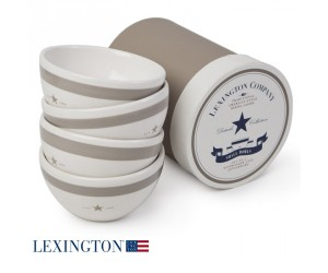 Lexington 4er Set kleine Schalen Star beige