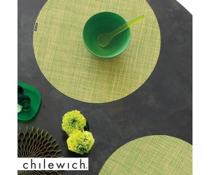 Chilewich Set Rund Mini Basketweave dill