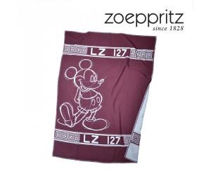Zoeppritz Decke Mickey Hero weinrot-390