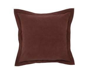 Lexington Samt-Dekokissen Hotel Velvet Sham chestnut (65x65 cm)
