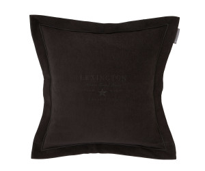 Lexington besticktes Samt-Dekokissen Hotel Velvet Sham with Embroidery grau (50x 50 cm)