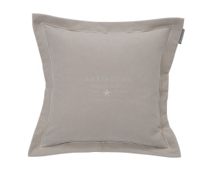 Lexington besticktes Samt-Dekokissen Hotel Velvet Sham with Embroidery beige (50x 50 cm)