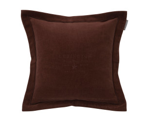 Lexington besticktes Samt-Dekokissen Hotel Velvet Sham with Embroidery chestnut (50x 50 cm)