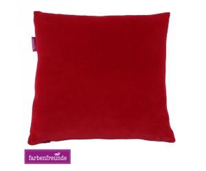 Farbenfreunde Dekokissen rubin -076 (5 Größen)