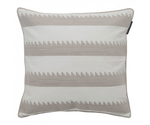 Lexington Dekokissen Embroidery Striped Sham beige/weiß (50 x 50 cm)
