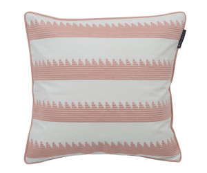 Lexington Dekokissen Embroidery Striped Sham rosa/weiß (50 x 50 cm)