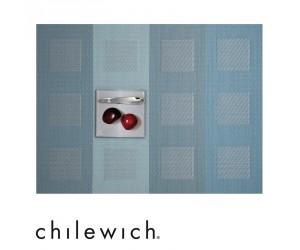 Chilewich Tischset Engineered Squares azure