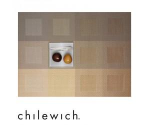 Chilewich Tischset Engineered Squares gold