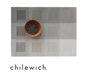 Chilewich Tischset Engineered Squares light grey