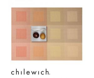 Chilewich Tischset Engineered Squares pale orange