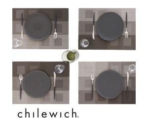 Chilewich Tischset Engineered Squares steel